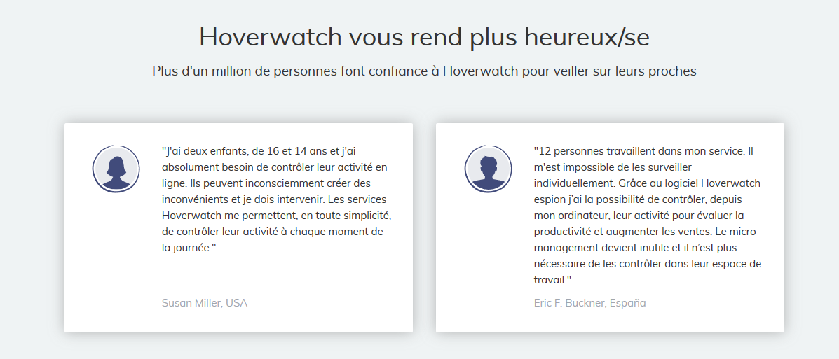hoverwatch avis clients