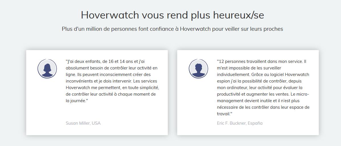 hoverwatch avis clients