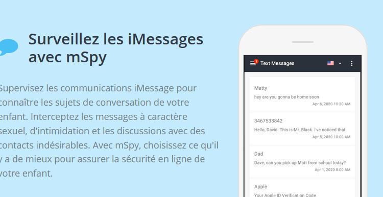espionner les iMessages avec mSpy